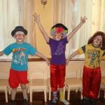 артисты цирковой студии: Кирилл, Маша, Дима